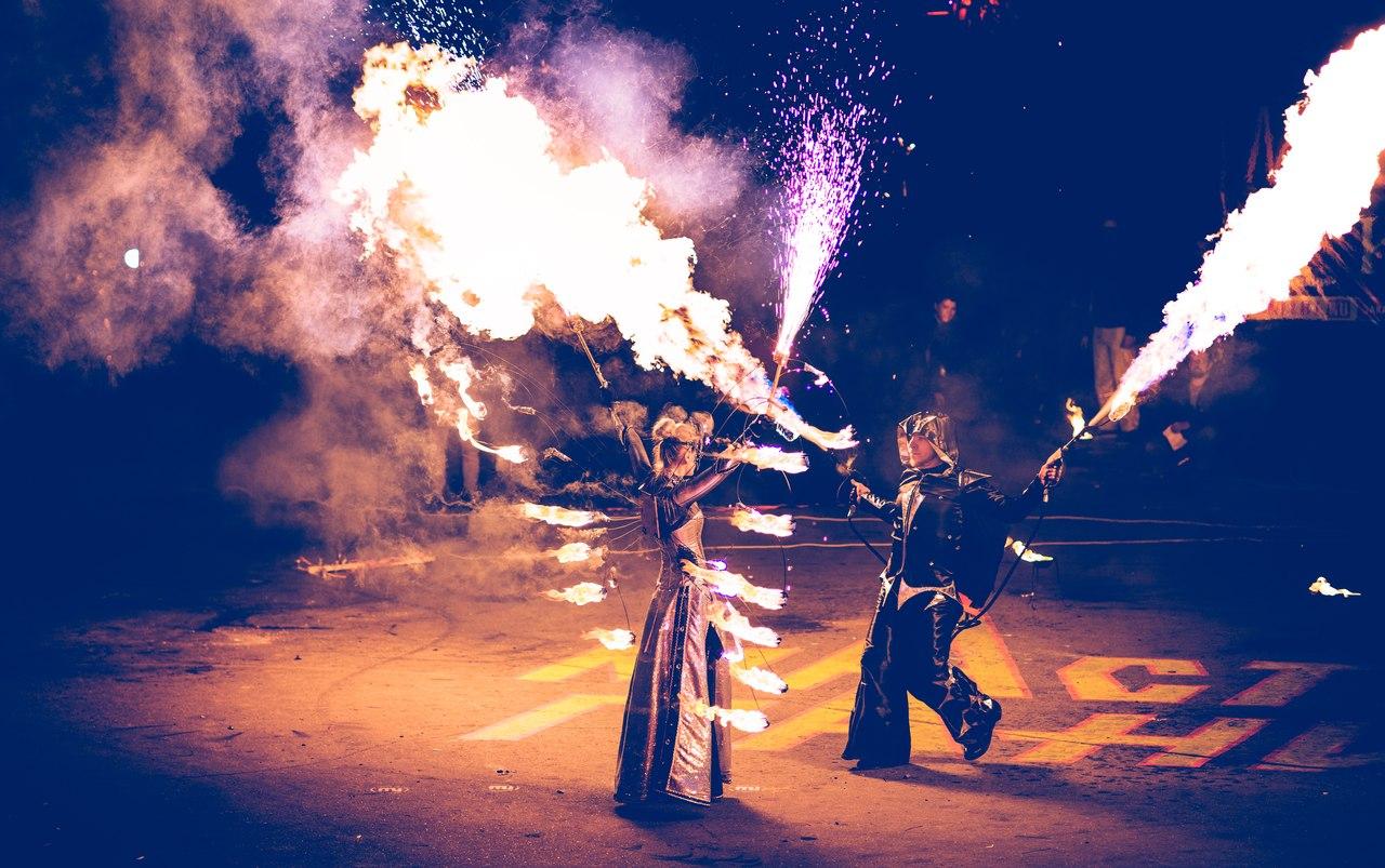 Световое пиротехническое огненное шоу